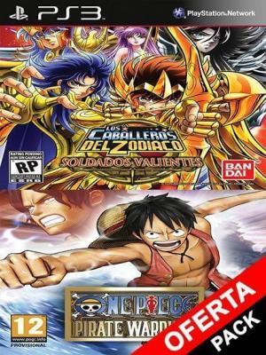 2 juegos en 1 Saint Seiya Brave Soldiers Mas One Piece Pirate Warriors Ps3