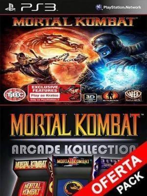 2 juegos en 1 Mortal Kombat Komplete Edition Mas Mortal Kombat Arcade Kollection Ps3