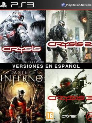 4 juegos en 1 Crysis Mas Crysis 2 Mas CRYSIS 3 Mas Dantes Inferno