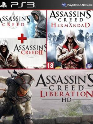 4 juegos en 1 Assassins Creed mas Assassins Creed II mas  Antología Assassins Creed La Hermandad Mas Assassins Creed Liberation HD