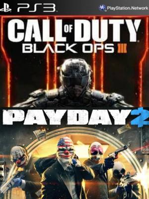 2 juegos en 1 Call of Duty Black Ops III Español  Mas PAYDAY 2 PS3