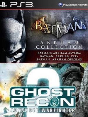 4 juegos en 1 Batman Arkham Collection Mas Tom Clancy's G.R.A.W 2