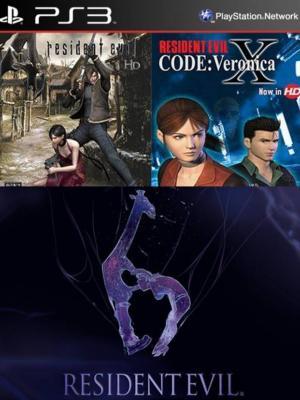 3 juegos en 1 Resident Evil 4 Mas RESIDENT EVIL CODE Veronica X Mas RESIDENT EVIL 6