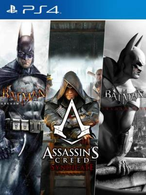 3 JUEGOS EN 1 Assassin's Creed Syndicate +  BATMAN ARKHAM ASYLUM + BATMAN ARKHAM CITY PS4