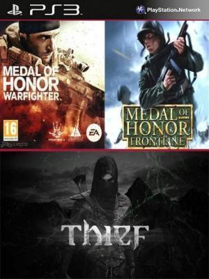 3 Juegos en 1 Thief Mas Medal of Honor Frontline Mas MEDAL OF HONOR WARFIGHTER PS3