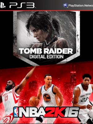 2 JUEGOS EN 1 TOMB RAIDER DIGITAL EDITION mas NBA 2K16 PS3