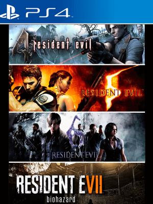 4 JUEGOS EN 1 RESIDENT EVIL 4-5-6-7 PS4