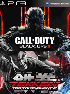 2 JUEGOS EN 1 Call of Duty: Black Ops III PS3 EN ESPAÑOL + TEKKEN TAG TOURNAMENT 2 PS3