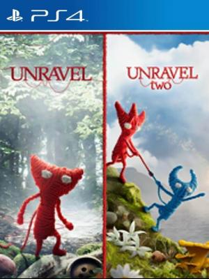 2 JUEGOS EN 1 Unravel MAS Unravel Two PS4