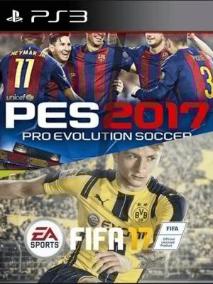 FIFA 17 MAS PES 2017 AUDIO LATINO PS3
