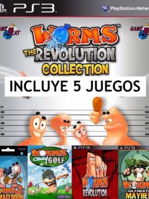 5 juegos en 1 Worms Ps3 Collection