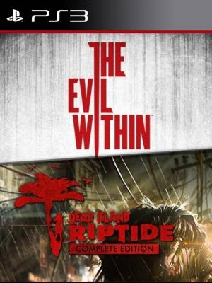 2 juegos en 1 The Evil Within Mas Dead Island Riptide Complete Edition PS3