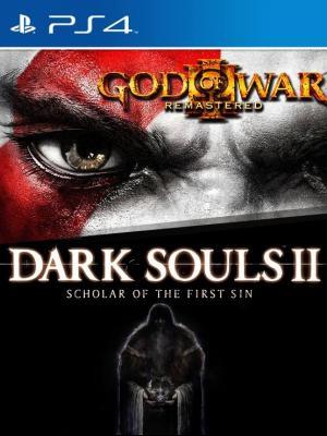 2 juegos en 1 God of War III  mas DARK SOULS II: Scholar of the First Sin  Ps4 Primaria