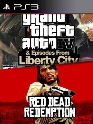 2 JUEGOS En 1 Grand Theft Auto IV The Complete Edition MAS Red Dead Redemption