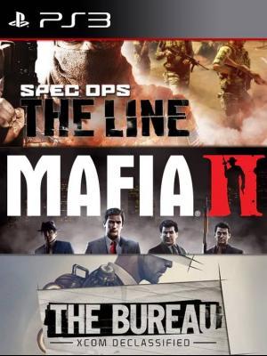 3 JUEGOS EN 1 Spec Ops: The Line MAS Mafia II MAS The Bureau: XCOM Declassified PS3